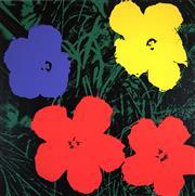 Sale 8492 - Lot 585 - Andy Warhol (1928 - 1987) - Flowers 91 x 91cm