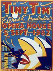 Sale 8607A - Lot 5013 - Martin Sharp (1942 - 2013) - Tiny Tim - Eternal Troubadour 1982 76 x 57cm