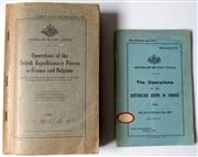 Sale 8639 - Lot 66 - Operations of the British Expeditionary Forces in France and Belgium compiled by General Staff Army Headquarters Melbourne 1934, man...