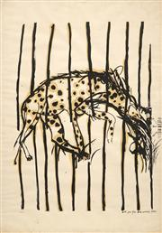 Sale 8652 - Lot 538 - Brett Whiteley (1939 - 1992) - Hyena 95 x 66.5cm