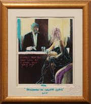 Sale 8655 - Lot 2073 - David Farrant Black Tie, mixed media, signed lower -