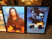 Sale 8671 - Lot 2061 - 2 Framed Movie Posters: Braveheart & Heat