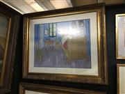 Sale 8702 - Lot 2066 - Vincent van Gough Decorative Print, 81 x 96cm (frame size)