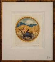 Sale 8734A - Lot 33 - Gary Tricker - Perpetuity, 1985 46 x 41cm (frame size)