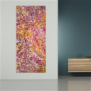 Sale 8998A - Lot 5012 - Belinda Golder Kngwarreye (1986 - ) - Bush Plum Dreaming 199 x 85 cm (stretched and ready to hang)