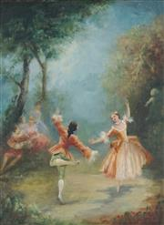 Sale 8821 - Lot 590 - Carlotta Edwards - The Minuet 39.5 x 29.5cm