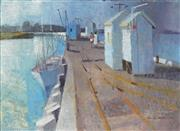 Sale 8847 - Lot 529 - Frank Norton (1916 - 1983) - Jetty, Freemantle 1968 54 x 74.5cm