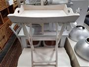 Sale 8912 - Lot 1070 - Painted Side table With Removeable Tray