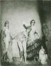 Sale 9038 - Lot 547 - Norman Lindsay (1879 - 1969) - The Showman, 1921 25 x 22 cm (frame: 60 x 53 x 2 cm)