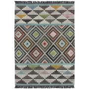 Sale 9082C - Lot 55 - India Aztec Design Flatweave, 160x230cm, Handspun Wool
