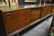 Sale 8338 - Lot 1007 - Teak 1960s Sideboard with Sliding Doors