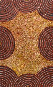 Sale 8321 - Lot 591 - Janet Golder Kngwarreye (1973 - ) - Womens Body Paint 150 x 90cm (framed & ready to hang)