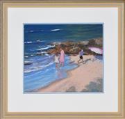 Sale 8349A - Lot 19 - Doris Kaminski (XX) - Beach Scene 30 x 35cm