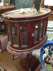Sale 8412 - Lot 1027 - Mahogany and Glass Cake Cabinet