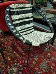 Sale 8462 - Lot 1028 - Pair of Plastic Weave Saucer Chairs