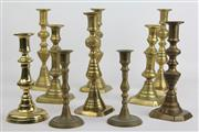 Sale 8470 - Lot 21 - Brass Candle Holders (10)