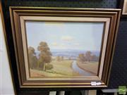 Sale 8544 - Lot 2012 - Erik Langker - Countryscape 29 x 36.5cm