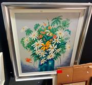 Sale 8650 - Lot 2026 - Ronald Chambers - Daisies Oil on Board SLR