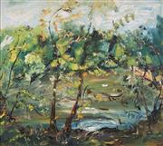 Sale 8755 - Lot 533 - Celia Perceval (1949 - ) - Lake in Hamstead Heath 75 x 86cm