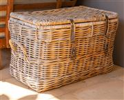 Sale 8741A - Lot 3 - A wicker basket H x 48cm, W x  48cm, D x  72cm