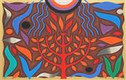 Sale 8764A - Lot 5046 - John Coburn (1924 - 2006) - Tree of Life I 31.5 x 50cm