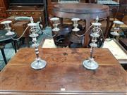 Sale 8814 - Lot 1051 - Pair of Barker Ellis Silver Plated Candelabra