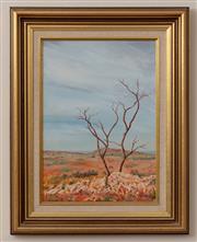 Sale 8926K - Lot 80 - BILL COFFEY - Stark Outback Landscape 34.0 x 24.0cm