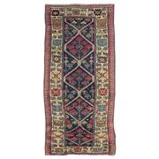 Sale 8914C - Lot 30 - Caucasian Antique Kazak Runner, Circa 1920, 200x95cm, Handspun Wool