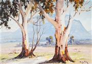 Sale 9055A - Lot 5049 - Dudley Parker (1914 - 1989) - Gums Trees & Landscape 43 x 62.5 cm (frame: 64 x 85 x 3 cm)