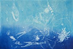 Sale 9112A - Lot 5025 - Frank Hodgkinson (1919 - 2001) - Reef, 1997 50 x 81 cm (frame: 85 x 116 x 4 cm)