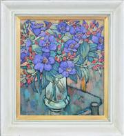 Sale 8286 - Lot 599 - Fu Hong (1946 - ) - Glory Bush, 1995 43 x 37.5cm