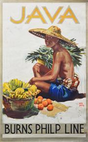 Sale 8330A - Lot 29 - Walter Jardine (1884 - 1970) - JAVA: Burns, Philp & Co Ltd. 101 x 63cm