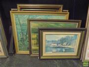 Sale 8483 - Lot 2055 - 3 Artworks of Street Scenes & Landscape, oils plus 3 Prints (6)