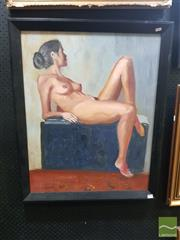 Sale 8544 - Lot 2020 - James Radford - Reclining Nude 73 x 59cm
