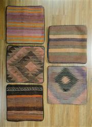 Sale 8643C - Lot 85 - 5 x Persian Kilim Cushions 40cm x 40cm