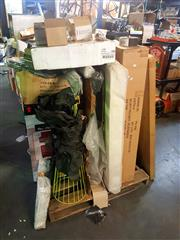 Sale 8663 - Lot 2160 - Pallet of Items incl Hardware, Tool Trolley etc