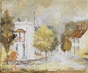 Sale 8704A - Lot 5001 - Willmotte Williams (1916 - 1992) - Corner Chat 37 x 44.5cm