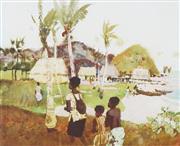 Sale 8755 - Lot 506 - Frank McNamara (1916 - 1995) - Island Village 57 x 70cm