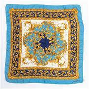 Sale 8800F - Lot 20 - A Jean Parel printed silk scarf of baroque design, 75 x 71cm