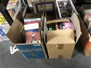 Sale 8819 - Lot 2338 - 2 Boxes of Mixed Books incl Fiction & Sports Books