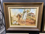Sale 8936 - Lot 2082 - Norma Dickason Horseman, oil on board 52 x 67.5 cm. signed lower right