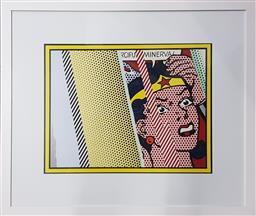 Sale 9155 - Lot 2025 - Roy Lichtenstein (1923 - 1997) - Reflections on Minerva 50 x 65 cm (frame: 83 x 98 x 3 cm)