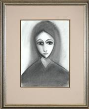 Sale 8459 - Lot 553 - Robert Dickerson (1924 - 2015) - Young Girl 38 x 27cm