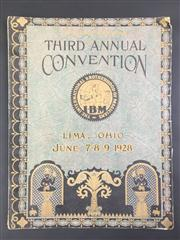 Sale 8539M - Lot 39 - The International Brotherhood of Magicians, Souvenir Program for Third Annual Convention, Lima Ohio, June 1928. Decorative cover i...