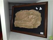 Sale 8544 - Lot 2064 - Framed Plaque Reclining Figure