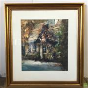 Sale 8649R - Lot 35 - Polak - Watercolour - Cottage in a Bushy Outlook