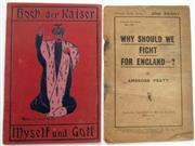 Sale 8639 - Lot 70 - Two Australian Booklets - (1) Hoch der Kaiser Myself und Gott (a satire) by A McGregor Rose, Keystone Printing Co Melbourne plus (2)...