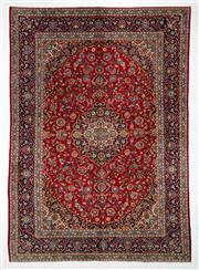 Sale 8770C - Lot 19 - A Persian Kashan From Isfahan Region 100% Wool Pile On Cotton Foundation, 392 x 276cm