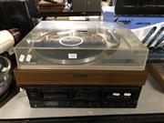 Sale 8819 - Lot 2252 - Technics Cassette Deck & Pioneer Record Player