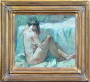 Sale 8286 - Lot 529 - Fu Hong (1946 - ) - Seated Nude, 1995 37 x 42cm